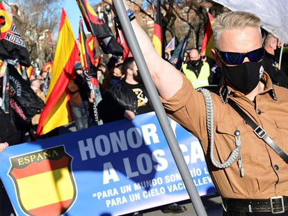 The neo-fascist march in Madrid on Saturday.