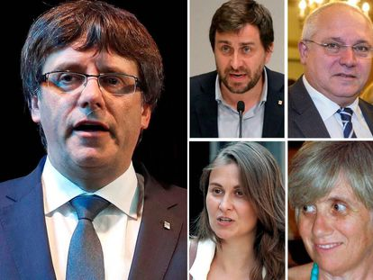 Carles Puigdemont and the four ex-regional ministers who are currently in Brussels.