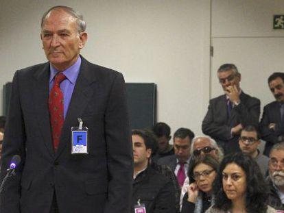 Former Civil Guard Captain Jesús Muñecas Aguilar appears before the High Court.