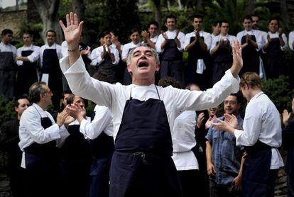 Ferran Adrià at the elBulli farewell bash on July 30, 2011.