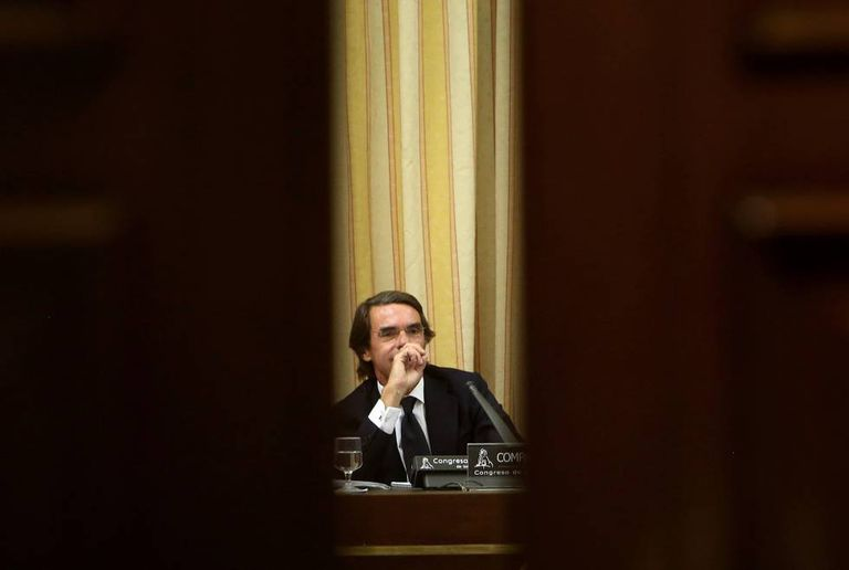 José Maria Aznar in Congress on Tuesday.