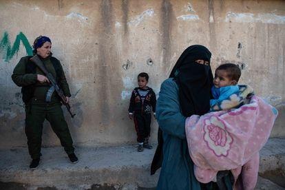 A raid against ISIS at Al-Hol camp on Sunday.