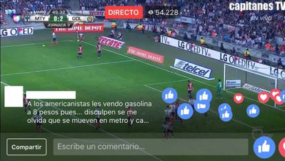 A match in the Mexican league, with more than 54.000 viewers.
