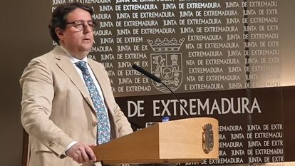 José María Vergeles, the regional health chief of Extremadura, at a press conference on Thursday.