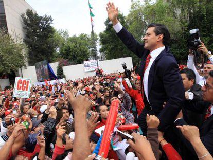 The PRI's Enrique Peña Nieto.