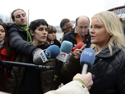 Maria del Mar Blanco of the Foundation for Victims of Terrorism outside the Strasbourg court on Tuesday.