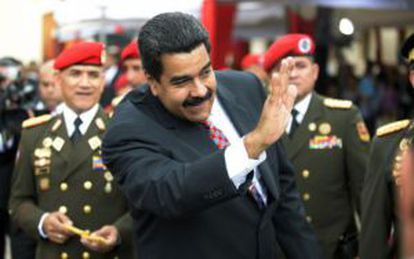 President Nicolás Maduro blames international capitalists for the country's economic woes.