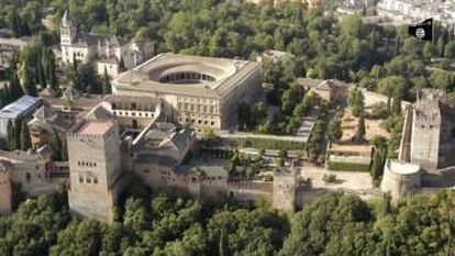 One ISIS video depicted the Alhambra in Granada flying the Islamic State flag.