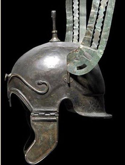 One of the Celtoiberian helmets discovered in Aranda de Moncayo.