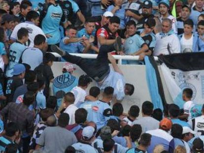 Death comes two days after incident involving Belgrano supporters was caught on camera