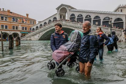 Recent flooding in Venice in Italy.