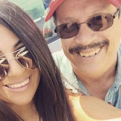 Adriana Almanza with her father.