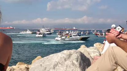 Protest by Spanish fishermen leads to stand-off in Bay of Algeciras