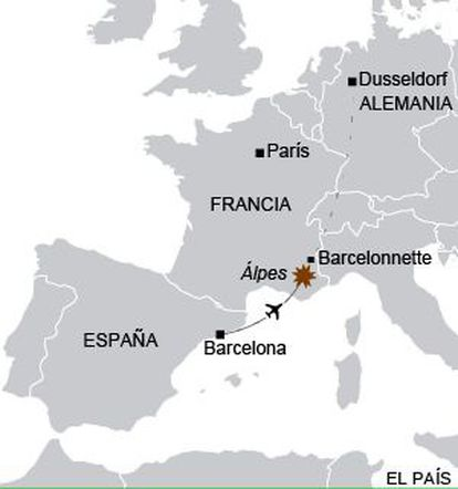 The location of Tuesday's air crash.