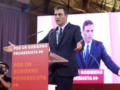 Acting Spanish PM Pedro Sánchez on Tuesday.
