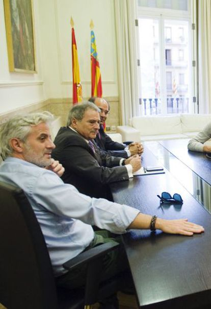 Marcos Benavent (left) as he looked at the time of his collaboration with Rus.
