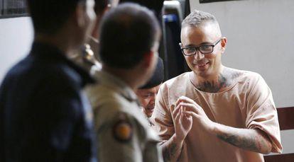 Convicted murderer Artur Segarra, pictured on Friday.
