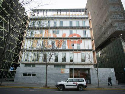 Radio Television Espanola (RTVE) offices in Barcelona.