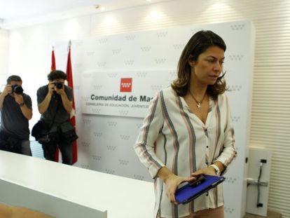 Lucía Figar announces her resignation on Thursday morning.