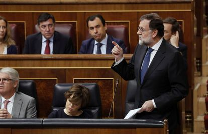 Spanish PM Mariano Rajoy speaking in Congress on Wednesday.