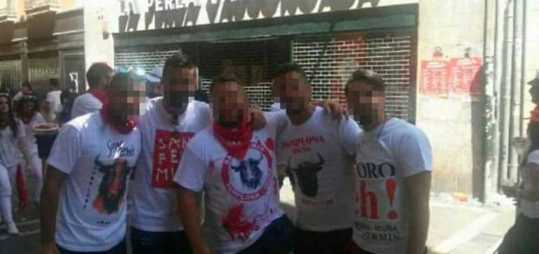 The five men accused of raping an 18-year-old in Pamplona in 2016.
