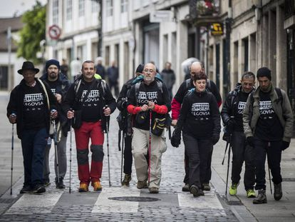 The group of prisoners and educators on the pilgrimage.