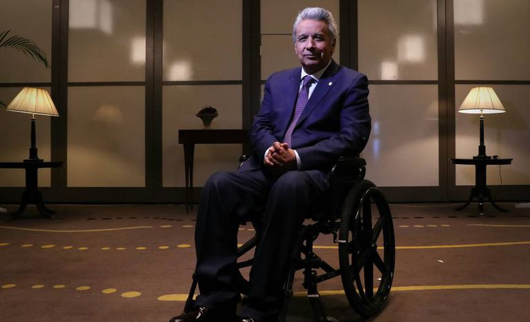Ecuadorian President Lenín Moreno in Madrid.