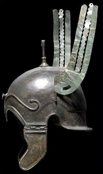A Celtiberian helmet that was auctioned in Germany.
