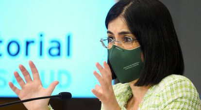 Spanish Health Minister Carolina Darias on Wednesday.