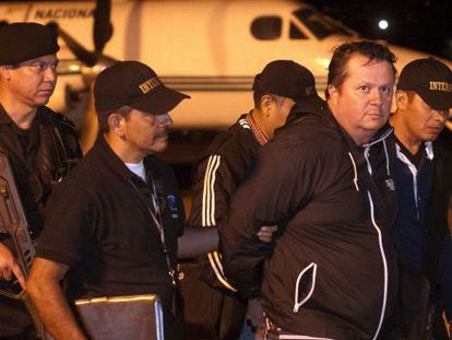 Jiménez arrives in Guatemala after a three-nation tug-of-war over the death penalty.
