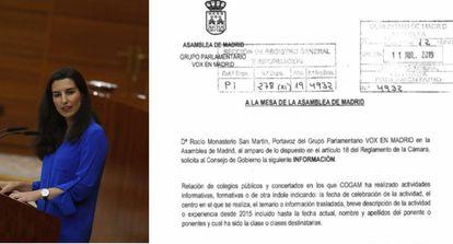 Rocio Monasterio and a copy of her request.