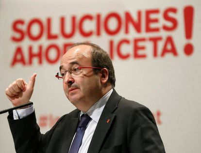 Miquel Iceta, the Socialist candidate in the December 21 elections.