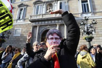 A supporter of Carles Puigdemont.