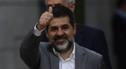 Jordi Sànchez, who is currently being held in custody.