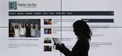 The homepage of 'Digital Sevilla'.