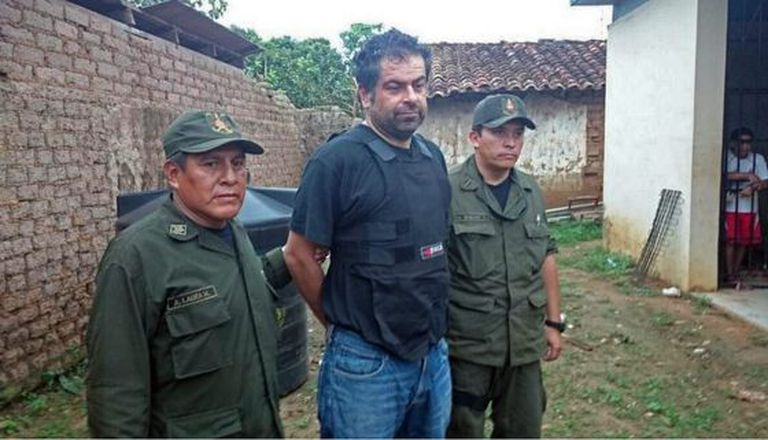 Wanted Peruvian businessman Martín Belaunde Lossio after being captured in Bolivia on Thursday.