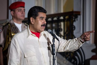 President Maduro speaking after the first day of talks on Sunday.