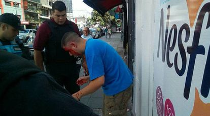 The photo shared by Rodríguez of the man he beat up for allegedly harassing his daughter.