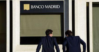 The headquarters of Banco de Madrid, in Plaza de Colón.