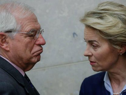 EU High Representative for Foreign Affairs Josep Borrell with European Commission President Ursula von der Leyen.
