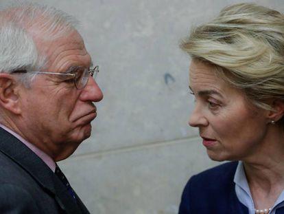 EU High Representative for Foreign Affairs Josep Borrell with European Commission President Ursula von der Leyen.