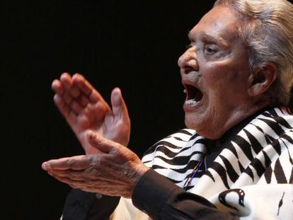 Chavela Vargas performs in Mexico City last April.