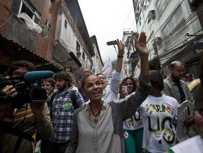 Presidential candidate Marina Silva at a campaign event in Rio de Janeiro.