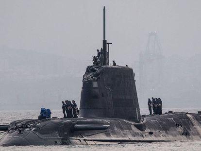 HMS Ambush in Gibraltar on Thursday.