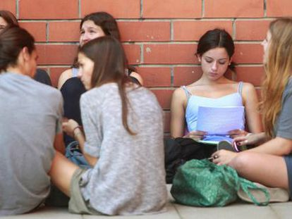 Students revising ahead of university entrance exams.