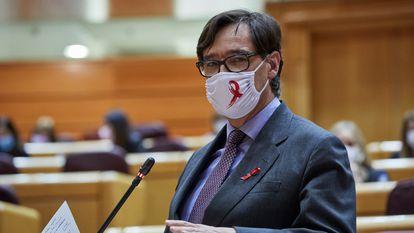 Health Minister Salvador Illa in the Senate on Tuesday.