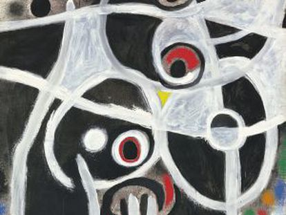 'Femme et oiseaux' (1968) by Joan Miró could fetch over eight million euros at auction.
