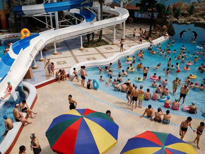 The Munsu water park in Pyongyang, North Korea.