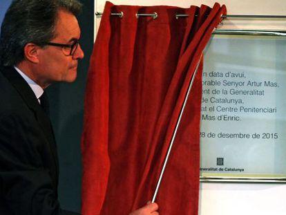 Artur Mas at the inauguration of a prison in Tarragona on Monday.