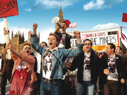 Strike force: The cast of 'Pride.'